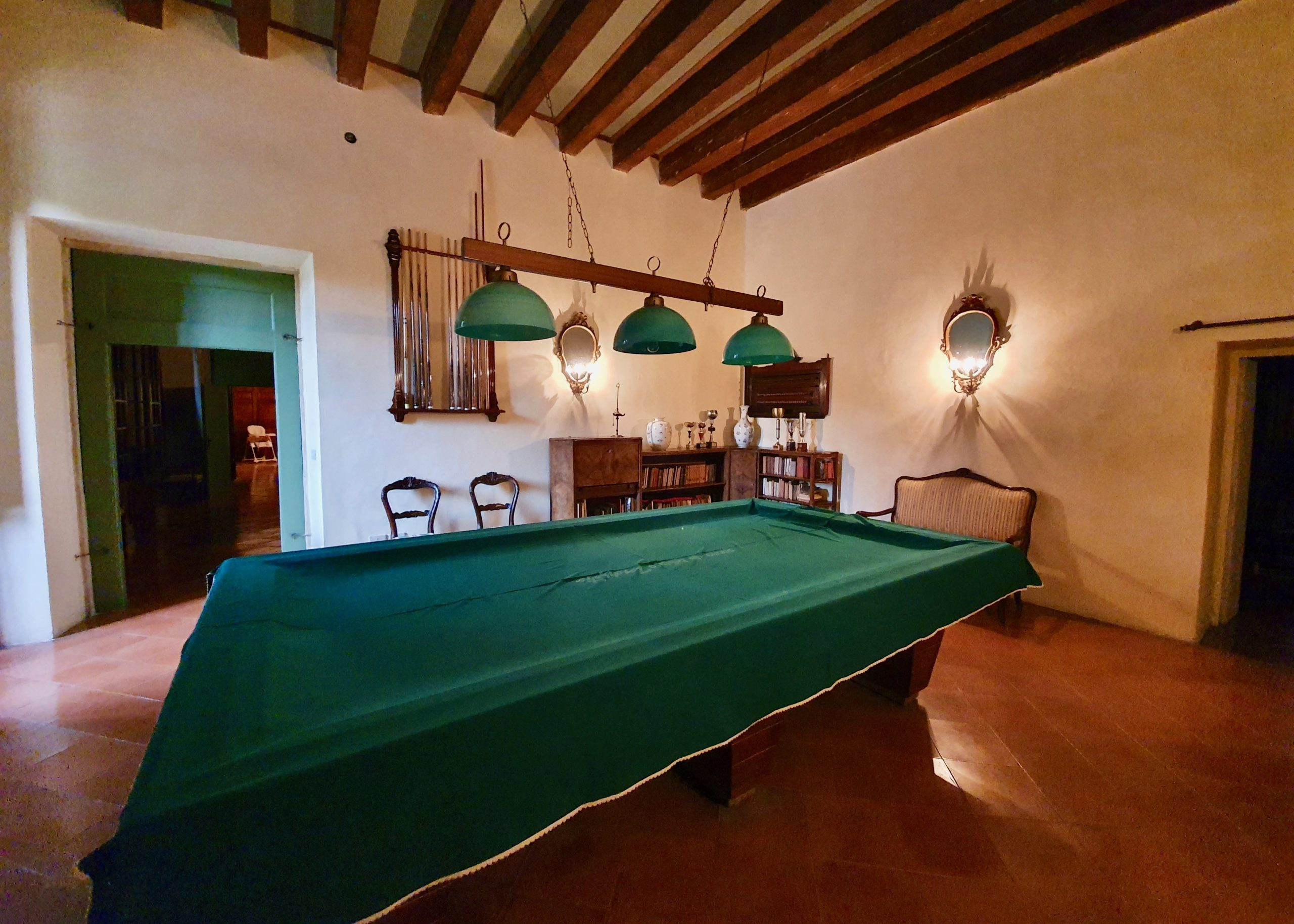 Billiard room at Villa Maffei Rizzardi